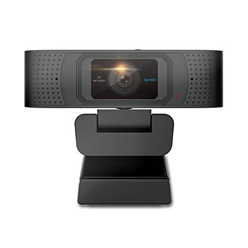 Webcam with Privacy Shutter Autofocus Web Camera Streaming Xbox Skype Camera PC HD Computer Camera 1080P Pro Webcam with Dual Microphones OBS YouTube Twitch Compatible (Webcam Computer Monitor)