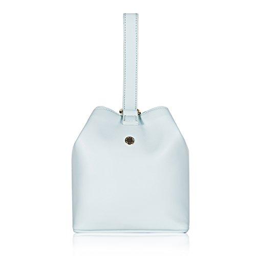 n's Top Handle Mini Bucket Handbag Wristlet Pouch,Mint (Metal Logo Handbag)
