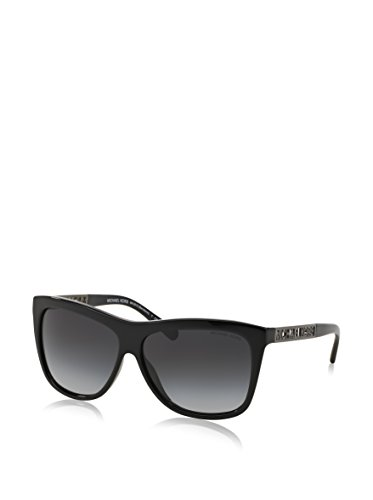 Michael Kors Womens Benidorm Sunglasses (MK6010) Black/Grey Acetate - Non-Polarized - 59mm by Michael Kors