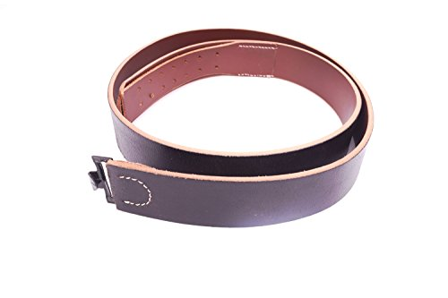 German Army Heer Black Leather Belt - WW2 Enlisted Mans EM ()