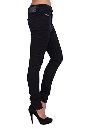 DIESEL - Jeans Mujer STRECHIC 8Z1 - Super Slim - Low Crotch - Stretch negro