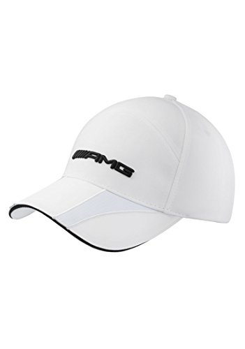 Mercedes Benz Women's White AMG Structured Colorblock Hat
