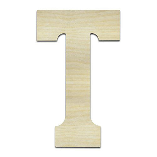Unfinished Wooden Letters (T - Tau 12