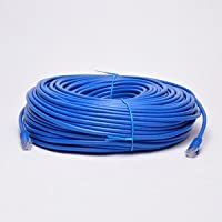UbiGear New 200ft 60m Blue RJ45 CAT6 Ethernet LAN Network Internet Computer Solid Wire 23 AWG UTP Cable