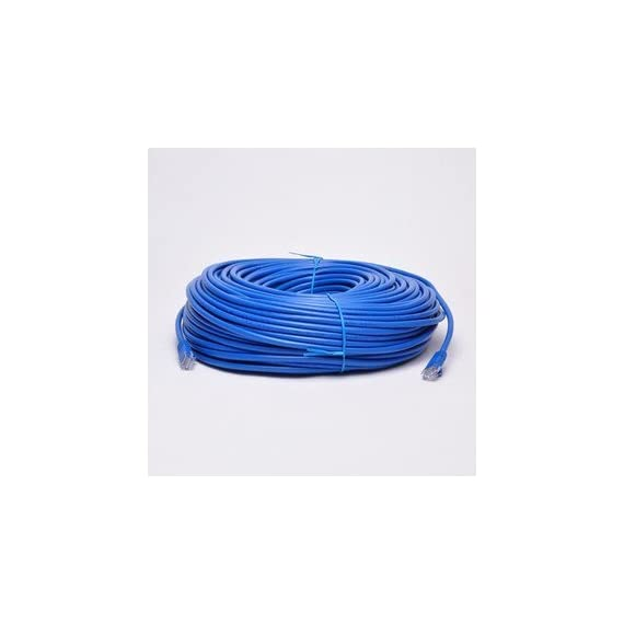 UbiGear 150ft Blue RJ45 CAT6 Ethernet LAN Network Internet Computer Patch Solid Wire 23 AWG UTP Cable 1 Compliance Standards: EIA/TIA-568B Category 6 Wire Construction: CCA - Copper Clad Aluminum (Solid wire) Length: 150 feet . Color: Blue