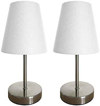 All The Rages LT2014-BLU-2PK Two Pack Mini Touch Table Lamp Set with Blue Shades