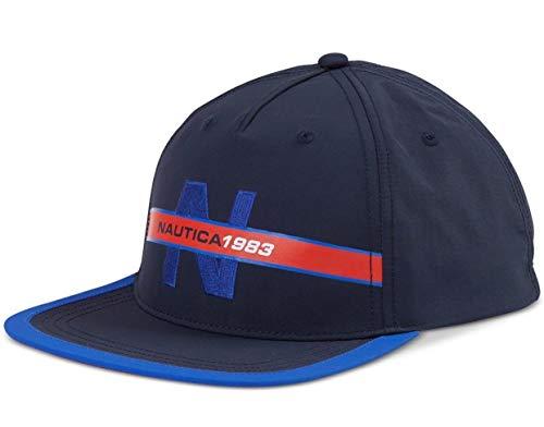 Nautica Men's Classic Heritage Logo Baseball Cap Hat, Navy, One Size from Nautica