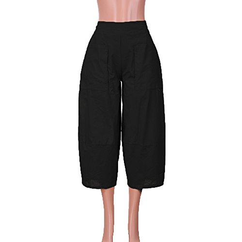 Sarouel Sport Taille Automne Pantalon Fluide Casual Waistband Jambes Overmal Grande lastique Femme Elegant Leggings Crayon Chic Pantalon et Lger tailleLarge Noir Neuf Haute t 4wRwxq6