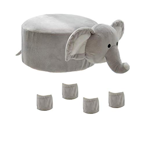 MagiDeal Cute Animal Design Round Chair Stool Cover Set 29-30cm / 12-inch - Elephant by Unknown