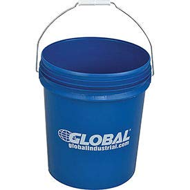 SIM Imports Global Industrial 5 Gallon Open Head Plastic Pail with Steel Handle - Blue