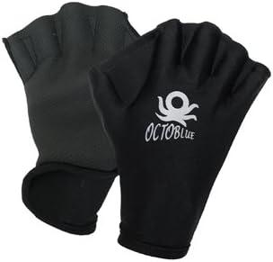 Unisex Diving Swimming Surfing Webbed Gloves Full Finger Gloves Training Paddles