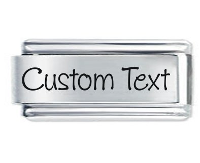 JSC Jewellery Superlink Custom Made Personalised Italian Charm Any Name Or Phrase Fits Nomination Classic