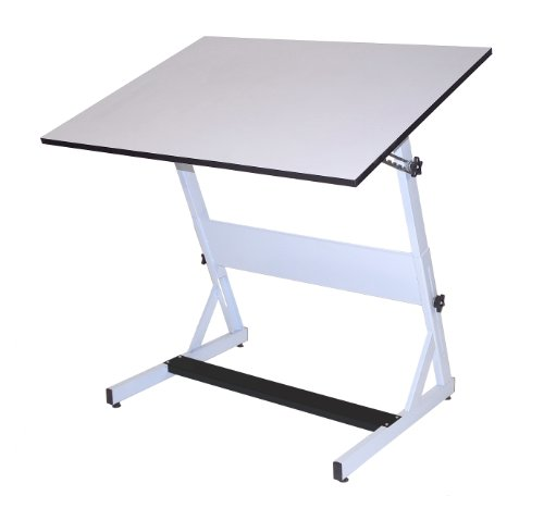 Drafting Table Surface (Martin MXZ Drafting-Art Table, White with White Tiltable Top, 30-Inch by 42-Inch Surface)