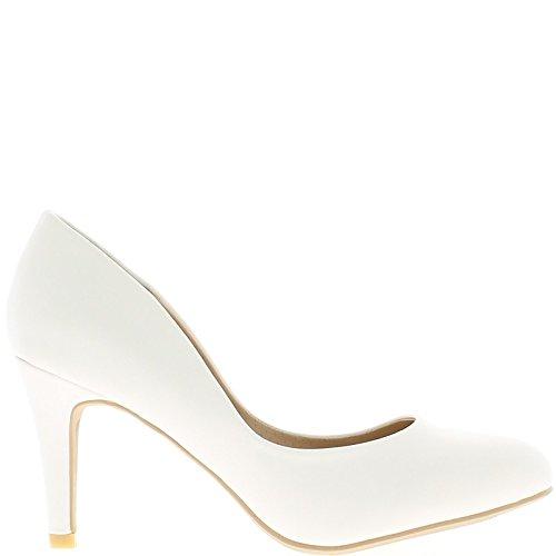White woman pumps to end 8.5 cm heel 280Pm4H2