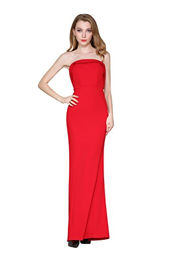 Wedding Evening Women's Red Party Strapless Maxi ChengDeYou Dress qxA8E4wwZ