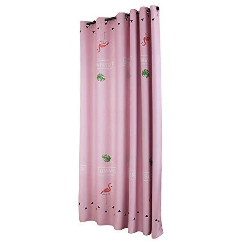- litymitzromq Beautiful Window Curtains Panels Valance, 1Pc Flamingo Pattern Window Curtain Rod Through Living Room Bedroom Drape DecorElegance Curtains for Living Room, Bedroom & Bathroom