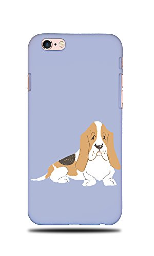 sset Hound Dog 2 Hard Back Case Cover For Apple iPhone 6 / 6S (Cute Basset Hounds)