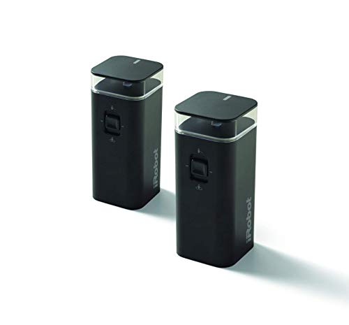 iRobot Dual Mode Virtual Wall Barrier, 2-Pack Accessories, Black (Renewed)