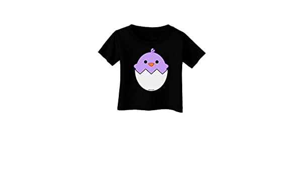 TooLoud Cute Hatching Chick White Infant T-Shirt Dark