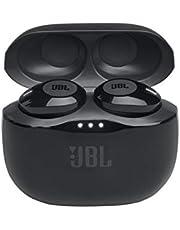 Jbl Tune 120Tws – Ecouteurs Pure Bass Sans Fil – Appels Stéréo Mains Libres Grâce Au Bluetooth – Autonomie Pendant 16 Hrs Avec l'Étui de Recharge – Noirs