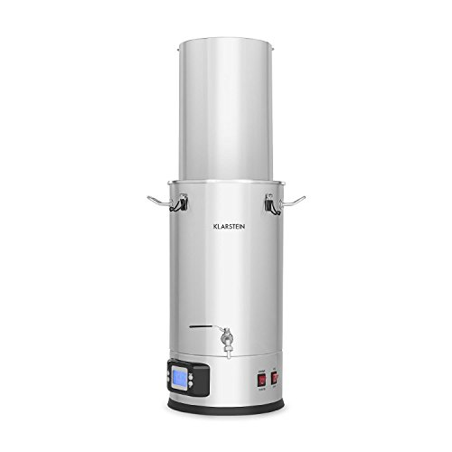 Klarstein Maischfest • Beer Brewing Device • Mash Tun • 5-Piece Set • 1500 and 3000 Watts Power • 25-litre Capacity • LCD Display and Touch Control Panel • Temperature • Stainless Steel by KLARSTEIN (Image #7)