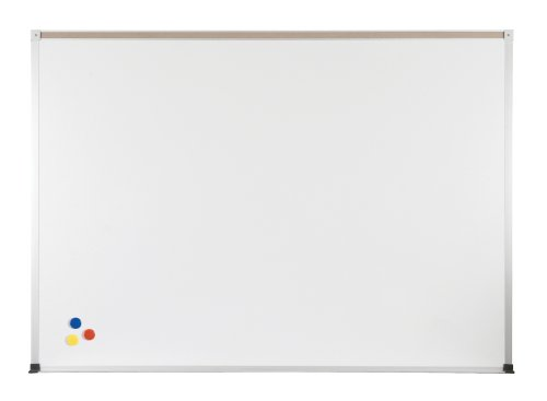 ABC Magnetic Wall Mounted Whiteboard Map Rail: With Map Rail, Size: 4' x 12' by Best-Rite