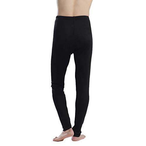 - Paradise Silk Pure Silk Knit Men Long Johns Bottom Only US S M L[USL,Black]