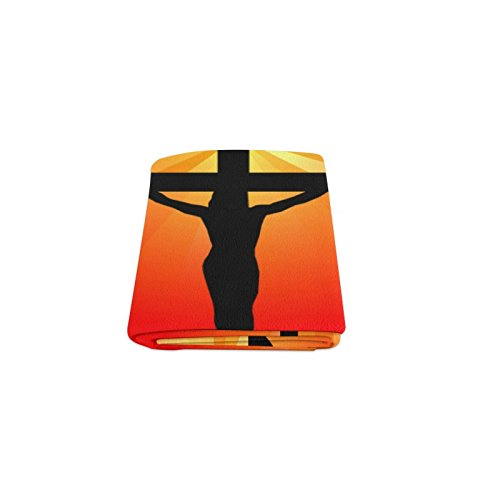 Catholic Christian Religious Church Gifts Cross Warmer Winter Fleece Throw Plush Blanket 40 x 50 inches (Small)