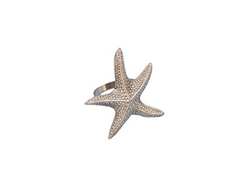 Hampton Nautical NR-16-BR Brass Starfish Napkin Ring 3
