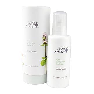 Vegan Facial Toner by 100% Pure, White Tea Mint, 4 oz