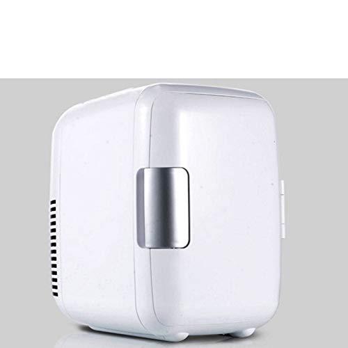 ZXZV Car car Mini Refrigerator 4L Refrigerator car Dual-use Refrigerator refrigerated Incubator car appliances, Portable Outdoor ice Heating Box (Color : White, Size : 24X23cm)