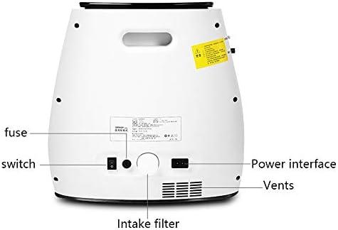 スマート高齢妊婦の酸素マシン、家庭用小型携帯用酸素マシン 酸素濃縮器 (Color : White)