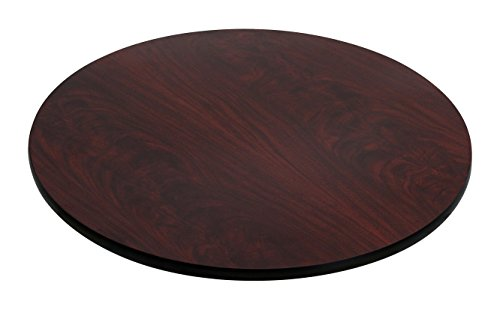 Flash Furniture 30'' Round Table Top with Black or Mahogany Reversible Laminate Top ()