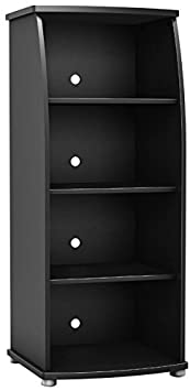 South Shore 4270651 Furniture City Life Collection Bookcase, Pure Black