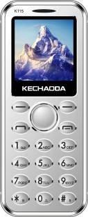 KECHAODA K115 Slim Card Size Dual Sim Phone with External Memory Slot (1.44Inch, Silver)