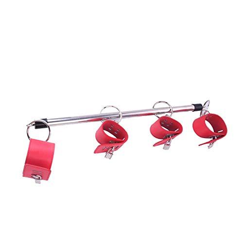 JJAMM T-shirt Toys Toys Stainless Steel Adjustable Spreader Bar Bondage Set UniSexmom Sexmom Slave Handcuffs Ankle Cuffs Fetish Restraints Shackles,Black