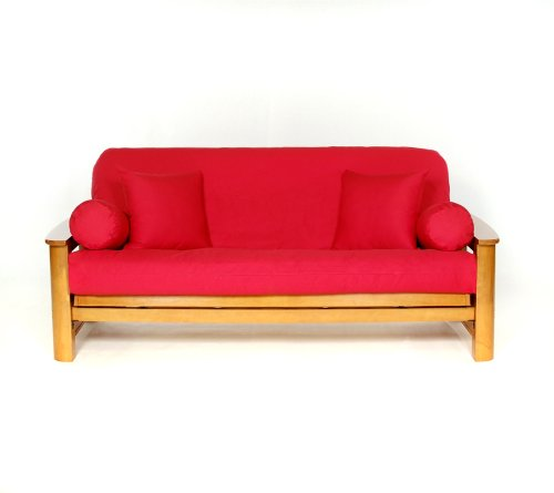 - Lifestyle Covers Red Matching Bolster Pillow