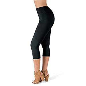 SATINA High Waisted Leggings – 25 Colors – Super Soft Full Length Opaque Slim