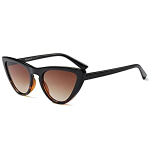 My Shades(TM) - Cateye or High Pointed Sunglasses Celebrity Chic Vintage Inspired Fashion (Black/Tortoise, Smoke)