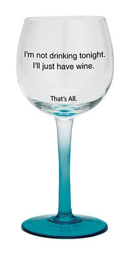 SB Design Studio WIN28-2690D Im Not Drinking Tonight Stemmed Wine Glasses Set of 2