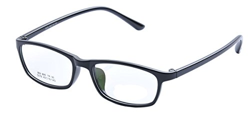 De Ding Boys Girls Eyeglasses Multicolored Kids Tr90 Frame (black) - Black Optical Frame