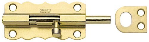 Stanley Hardware S757-140 CD1076 Barrel Bolt in Satin Brass Tone