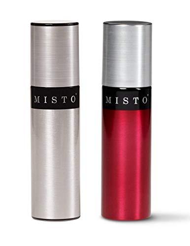 Cheap Misto Aluminum Bottle Oil Sprayer, Brushed Aluminum and Red Tomato, Set of 2 misto olive oil sprayer