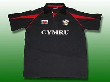 Gales galés algodón Negro camiseta de Rugby infantil [0-6mth ...