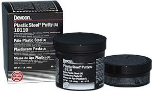 Plastic Steel Putty (A), 1 lb Can (6 Pack)