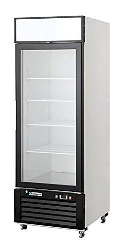 Empura Reach EDM-16W 24.2'' Black 1 Door Glass Door Merchandiser Refrigerator with 12 Cubic Ft capacity, 115 Volts by Empura