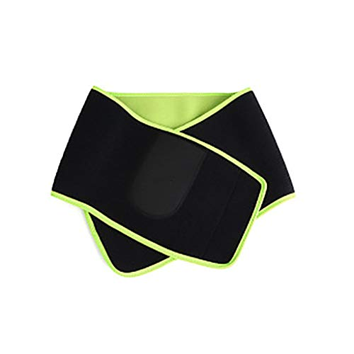 Waist Trimmer Belt,Compression Sweat Waist Trimmer Belt Stomach Fat Burner, Lumbar Support, Back Brace, Sport Girdle Slim Body Shaper with Men and Women (Black)