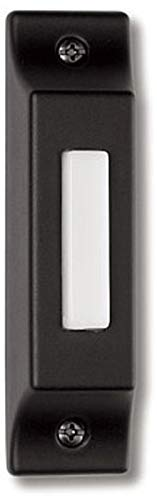 Craftmade BSCB-B Die-Cast Builder's Surface Mount Lighted Doorbell LED Push Button, Matte Black (3.75