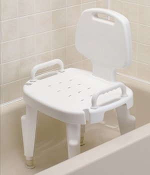 Amazon.com: Bath Shower Chair with Removable Back and Arms: Beauty