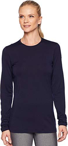Icebreaker Merino Women's 200 Oasis Long Sleeve Crew Neck Shirt, Midnight Navy, ()